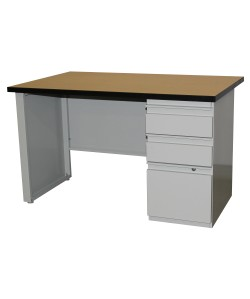 Two Drawer Desk with File Drawer