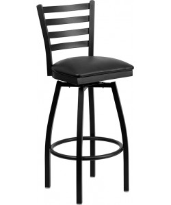 Hercules Ladder Back Swivel Bar Stool