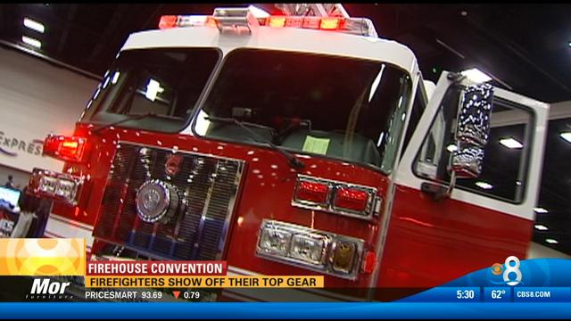 Firefighters Show Off Their Top Gear at Convention